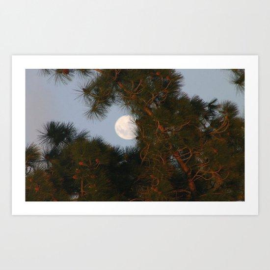 Framing the Moon Art Print
