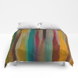 Colorful Acrylic Painting Paths Comforters