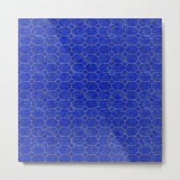Lapis Lazuli Tiles Metal Print