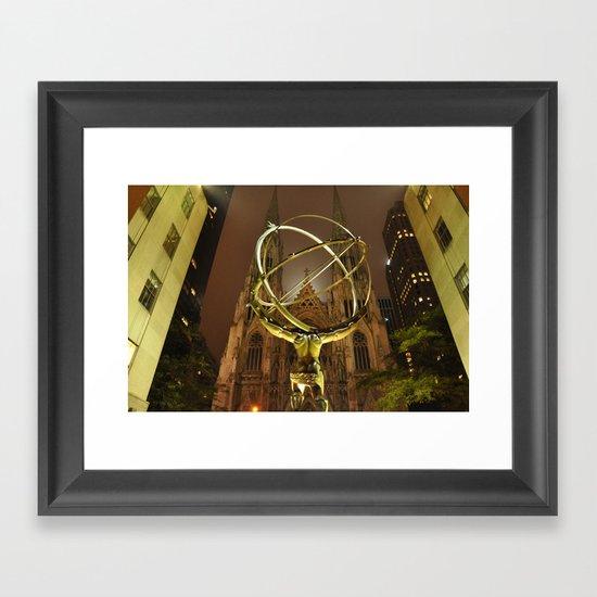 Atlas-Gold Framed Art Print