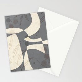 Abstract - Vase Shapes in Dove Grey Stationery Cards