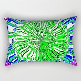 Kaleidoscopic Visions: tres colores Rectangular Pillow