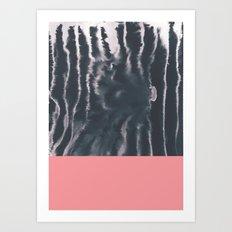 Faux Dye Pink Art Print