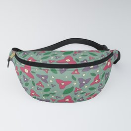 Magenta and Violet Bugambilia Fanny Pack