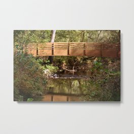 Bridge Over Brook Metal Print