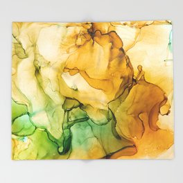 Turning Fall  - Abstract Ink Painting Throw Blanket