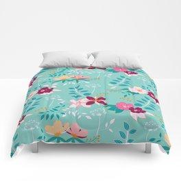 Exotic Flower Pattern Comforters
