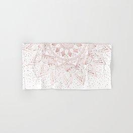 Elegant rose gold mandala confetti design Hand & Bath Towel