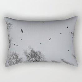 Crow Hour Rectangular Pillow