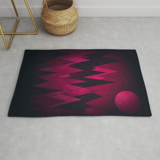 Dark Triangles (Peak Woods) Abstract Grunge Mountains Design (red/black) by badbugsart