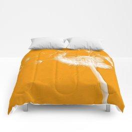 Tangerine Dandelion  Comforters