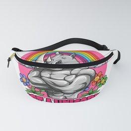 Not A Unicorn Rhino - Cute Rainbow Rhinoceros Fanny Pack