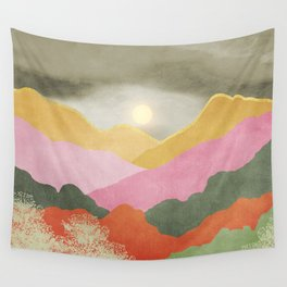 Colorful mountains Wall Tapestry