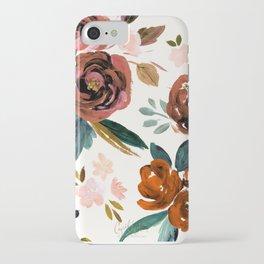 Valentina Vintage Rust Rose iPhone Case