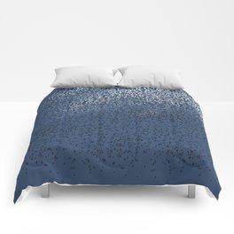 Cloud of birds Dark blue sky Comforters