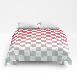 Chessboard Gradient II Comforters