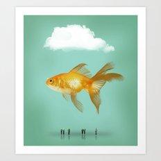BALLOON FISH  III Art Print