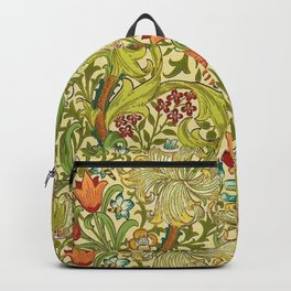 William Morris Calla Lilies, Tulips, Daffodils, & Red Poppies Textile Print Backpack