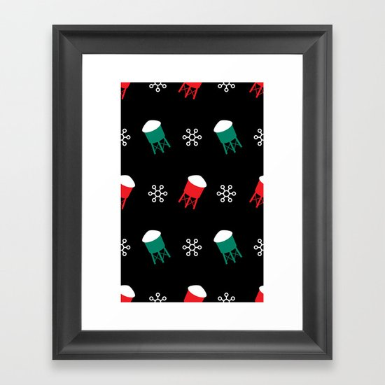 Water Towers and Snowflakes: 2012 Limited Edition Pattern Framed Art Print