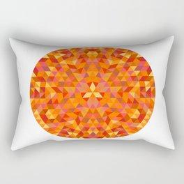 Triangle Sun Mandala Rectangular Pillow