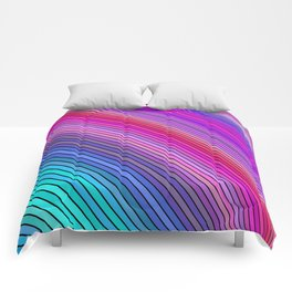 Cold rainbow stripes Comforters