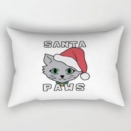 Santa paws cat kitten ugly christmas Rectangular Pillow