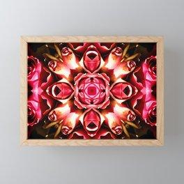 Pink Rose Abstract Framed Mini Art Print
