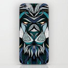 Blue Lion iPhone Skin