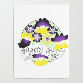 Non-Binary Pride Flowers Poster
