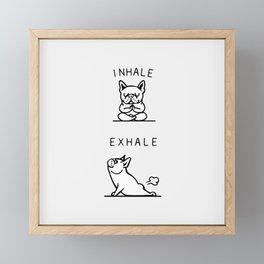 Inhale Exhale French Bulldog Framed Mini Art Print