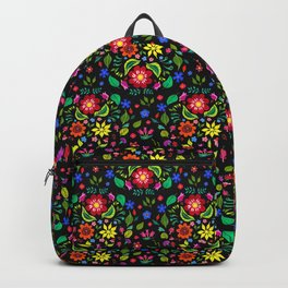 Folk Florals Dark Backpack
