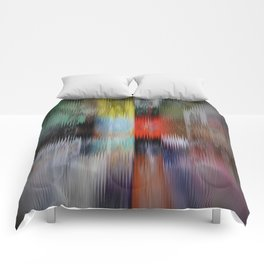 Distorted Fronts Comforters