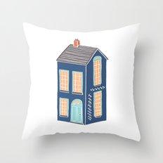 Little Townhouse Throw Pillow