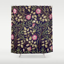William Morris Sweet Briar Floral Art Nouveau Shower Curtain