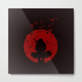 Ninja Silhouette Metal Print