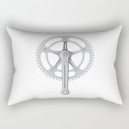 Campagnolo Track Chainset, 1974 Rectangular Pillow