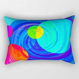 Re-Created Twisters No. 12 by Robert S. Lee Rectangular Pillow