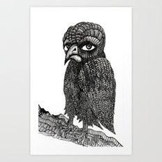 Morbid bird Art Print