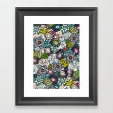 succulents multi dark Framed Art Print