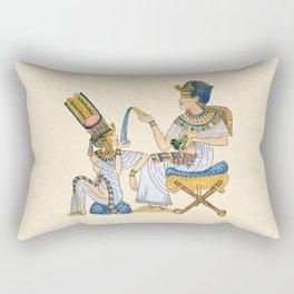 King Tut and Queen Ankhesenamun Rectangular Pillow