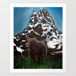 Home in the Tetons Art Print