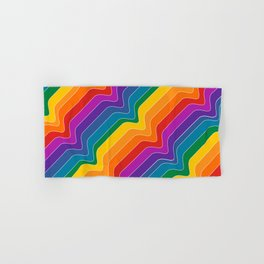 Rainbow Wave Hand & Bath Towel