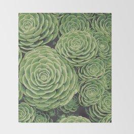 Succulents | Garden Plants Throw Blanket