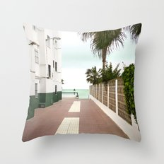 Road to the Beach Throw Pillow