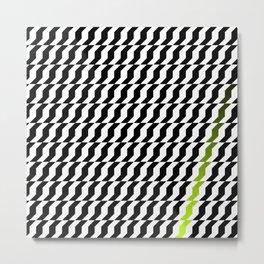 A Stripe of Green Metal Print