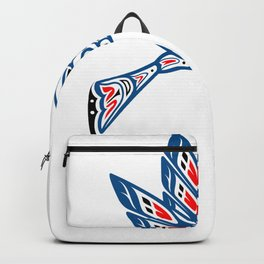Hummingbird Pacific Northwest Native American Indian Style Art Backpack