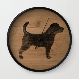 Beagle Silhouette(s) Wall Clock