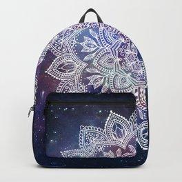 Boho Mandala - White on Galaxy Backpack