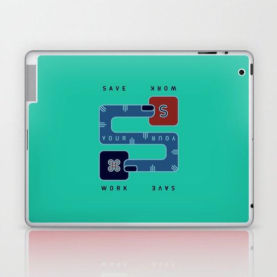 Save Your Work Laptop & iPad Skin