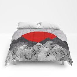 Ink Sunrise Comforters